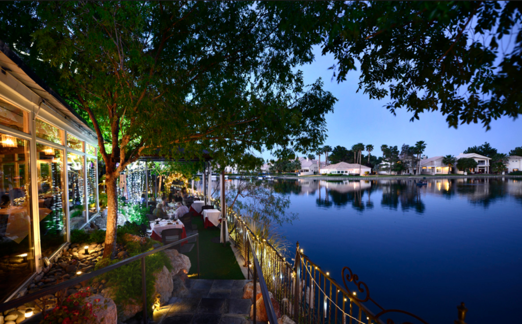 Lakeside View from the outside patio at Americana Las Vegas at Lakeside Event Center