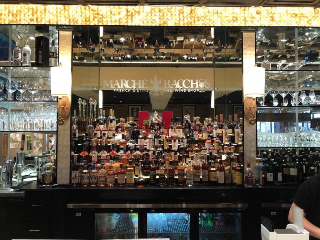 Marche Bacchus Bar Image with Mirror
