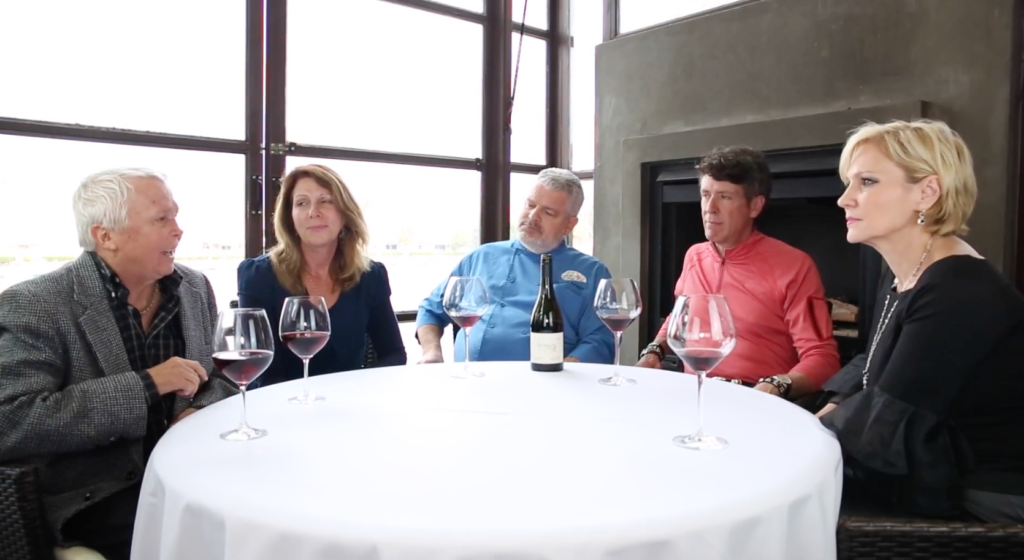 Vino Las Vegas' Scott & Elaine Harris Interview Jeff & Rhonda Wyatt at Marche Bacchus