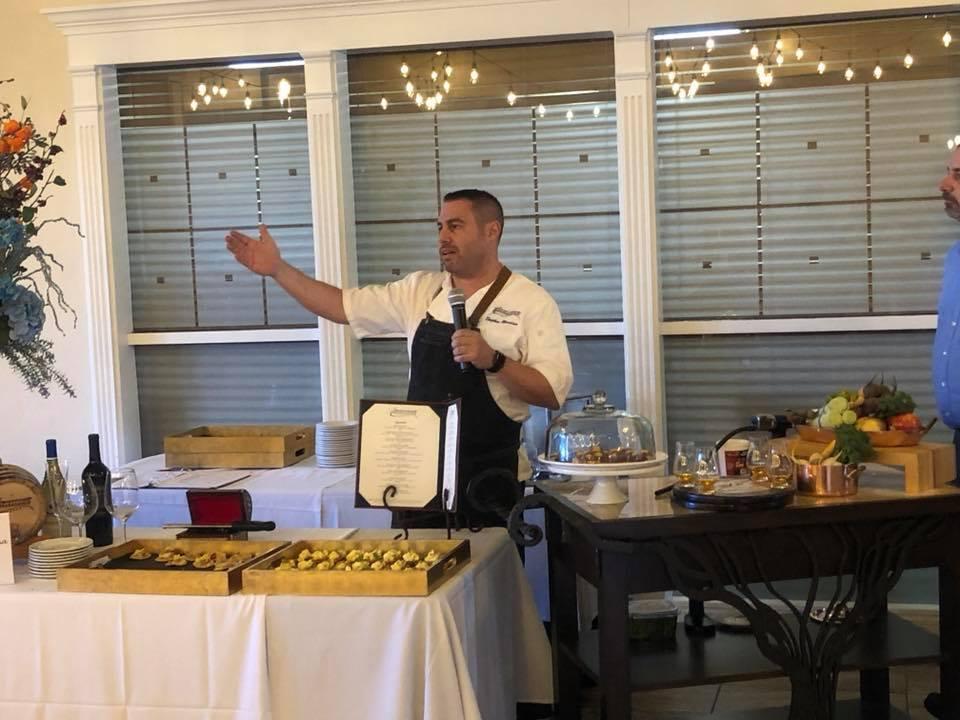 Chef Steven Blandino of Americana Las Vegas on Media Day at Lakeside Event Center