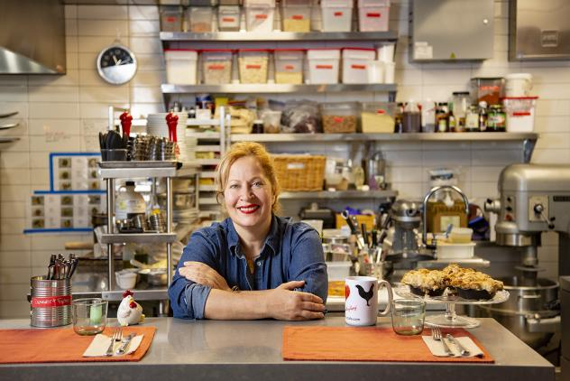 Chef Sonia El-Nawal of Rooster Boy Cafe in her kitchen
