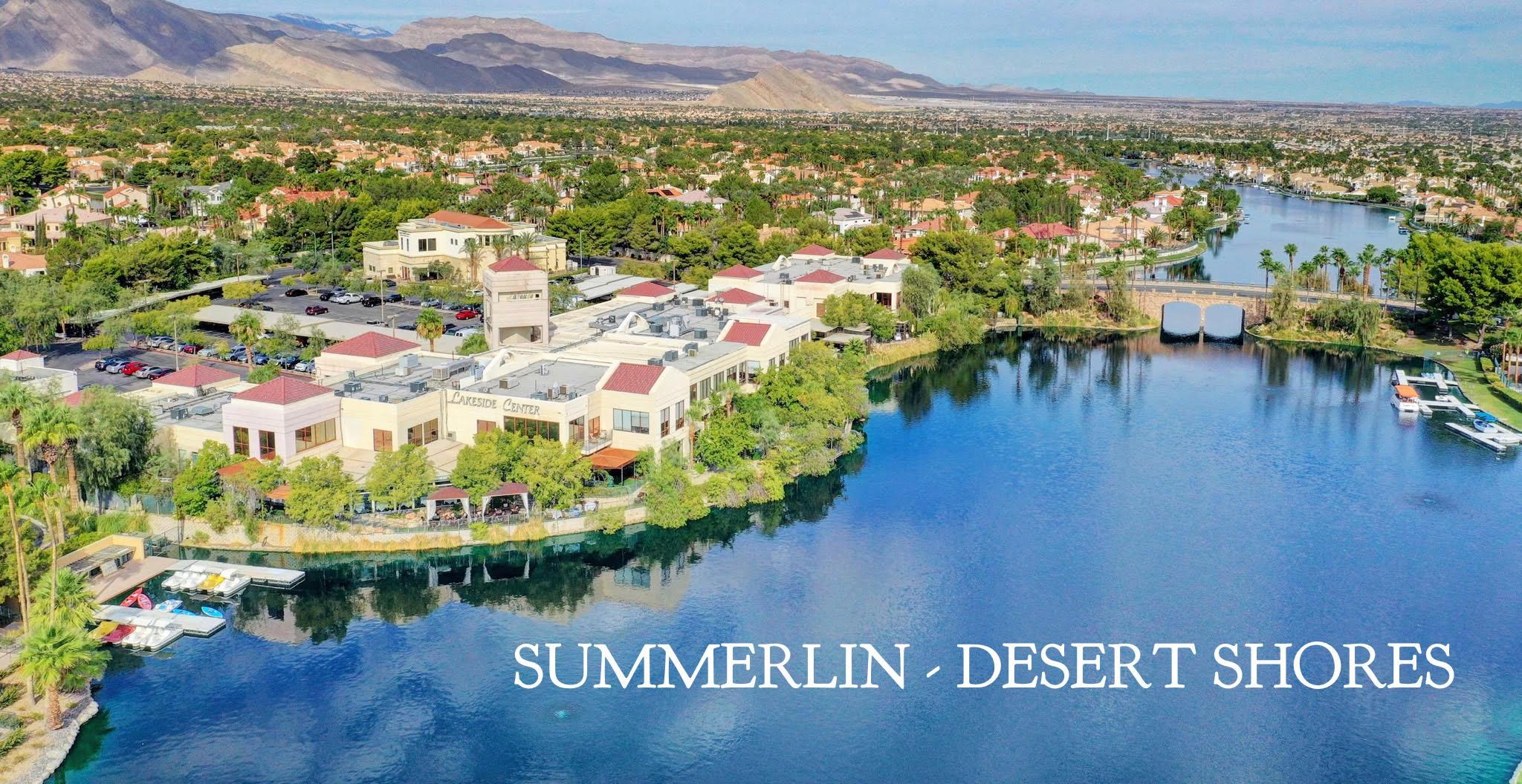 Lakeside Village Summerlin Desert Shores Aerial View