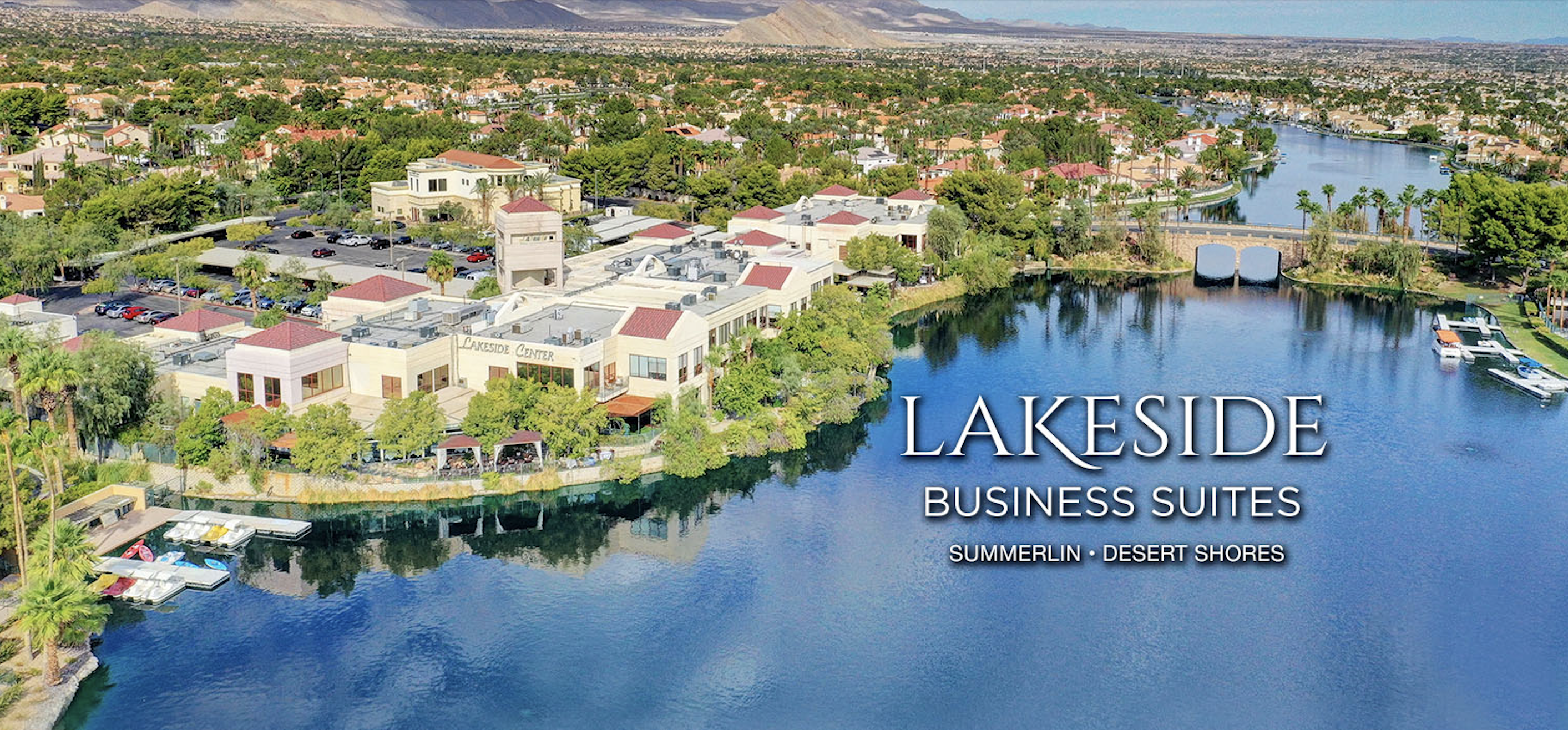 Lakeside Business Suites logo in Aerial image