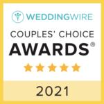 Wedding Wire Couples Choice Award 2021 badge